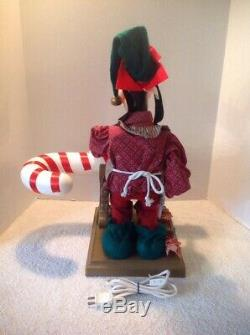 Vtg 1996 Santa's Best Disney Animated 22 Goofy Sawing Candy Cane Holiday Works