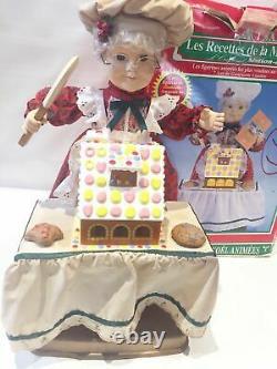 Vtg'95 Telco Motionette Lighted Animated Christmas Mrs Santa Ginger Bread house