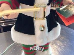 Vtg Animated Christmas Telco Motionette Baker Pixie Elf Santa Helper Blonde