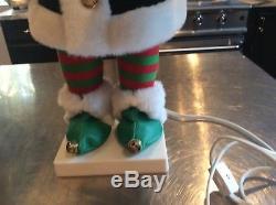 Vtg Animated Christmas Telco Motionette Pixie Baker Elf. Very Hard To Find