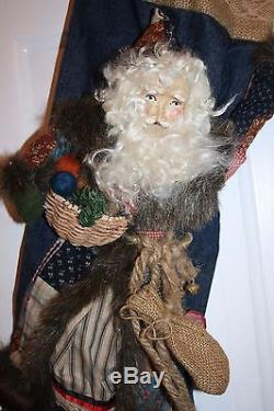 Vtg Rare House of Hatten St. Nick Santa Christmas Stocking 25