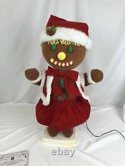 Vtg. Telco Gingerbread Girl Motion-Ette Animated Display Figure 24 Tall Withbox