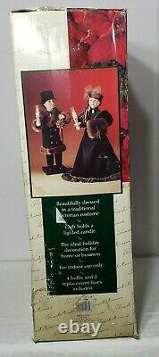 Vtg Traditions Animated 26 Victorian Couple Holiday Carolers FREE SHIPPING