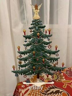 WILHELM SCHWEIZER GERMAN ZINNFIGUREN Decorated Christmas tree 10.3/8x 7.1/2