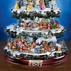 Walt Disney Christmas Statue Animated Lighted Musical Holiday Sculpture NEW