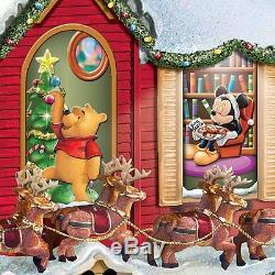 Walt Disney Light Up Twas The Night Before Christmas Tabletop Holiday Decor New