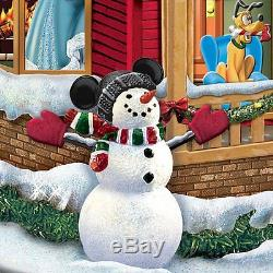 Walt Disney Light Up Twas the Night Before Christmas Tabletop Holiday Sculpture