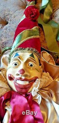 Wayne Kleski Katherine's Collection tall Jester Jack In The Box