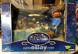 Yukon's Sled & Dog Team Rudolph Island Misfit Toys Memory Lane 2002 New Sealed